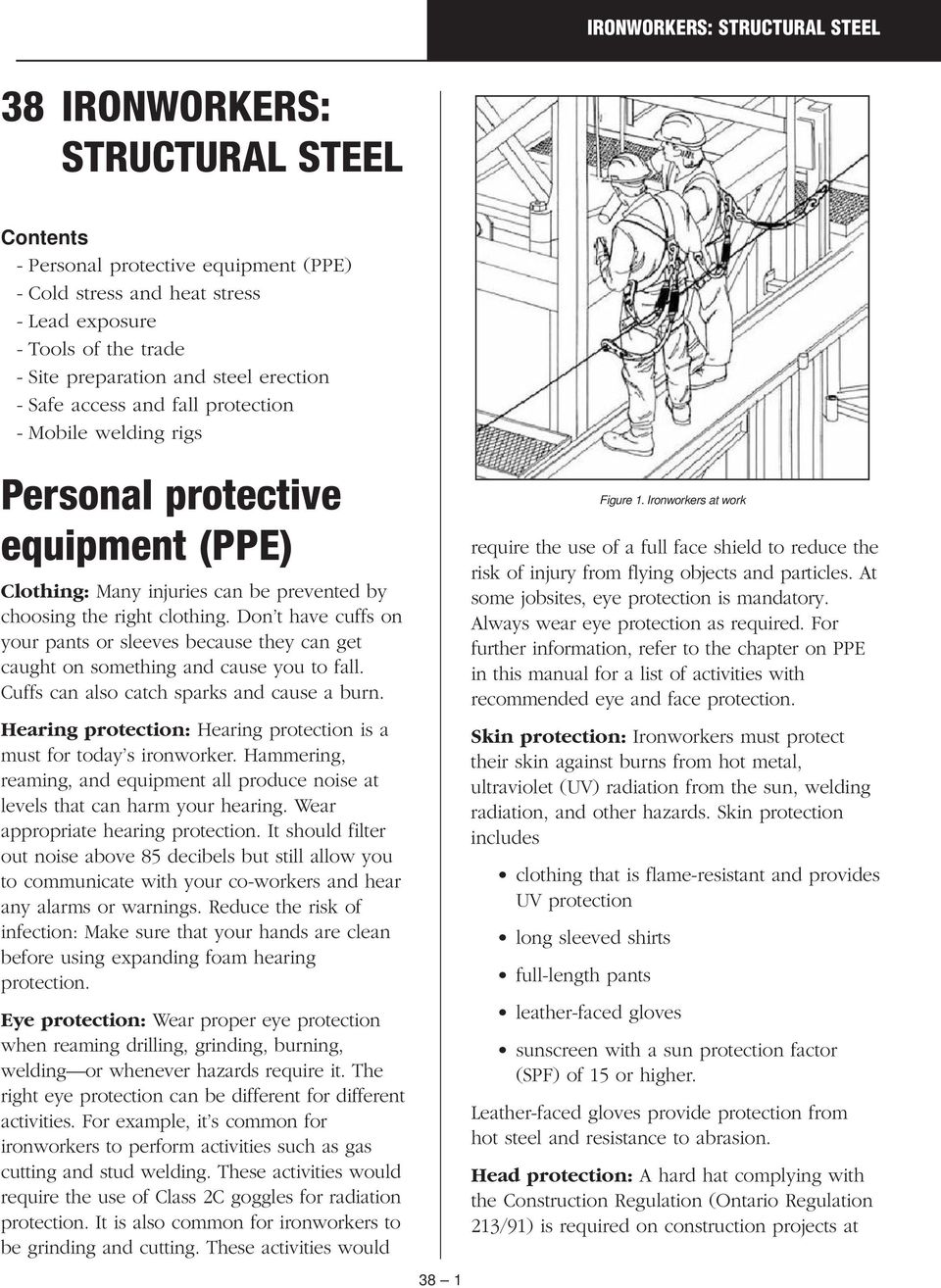 38 IRONWORKERS: STRUCTURAL STEEL  Personal protective