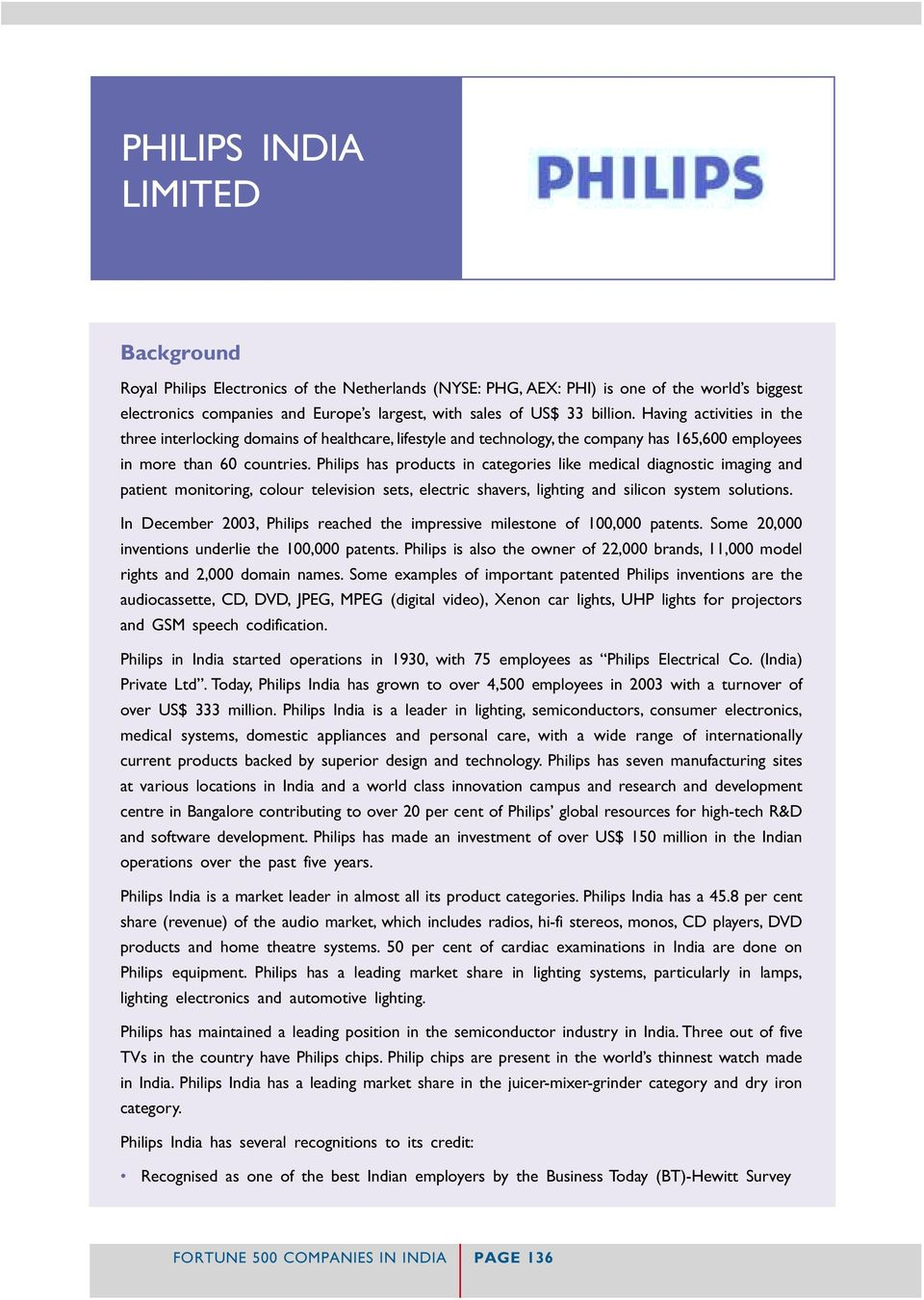 PHILIPS INDIA LIMITED - PDF