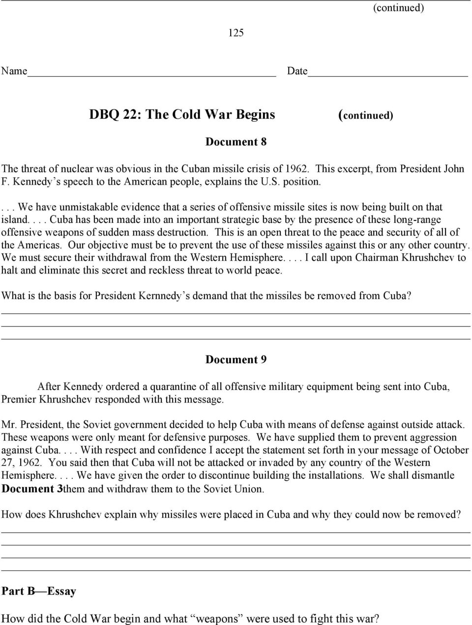 dbq 20 the cold war begins answers