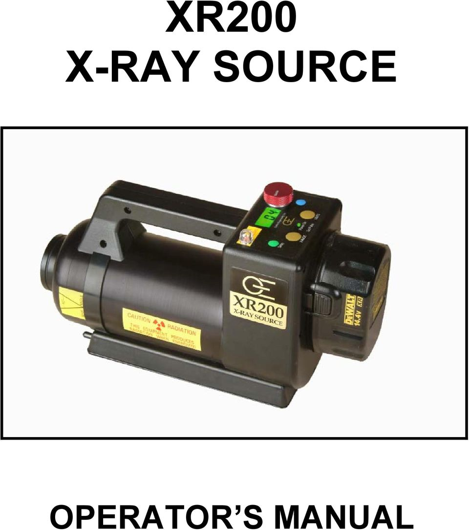 194 Array - xr200 x ray source operator s manual pdf rh docplayer net