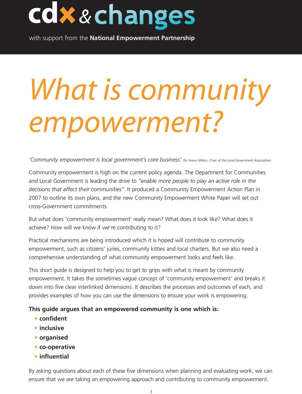 what is the empowerment approach