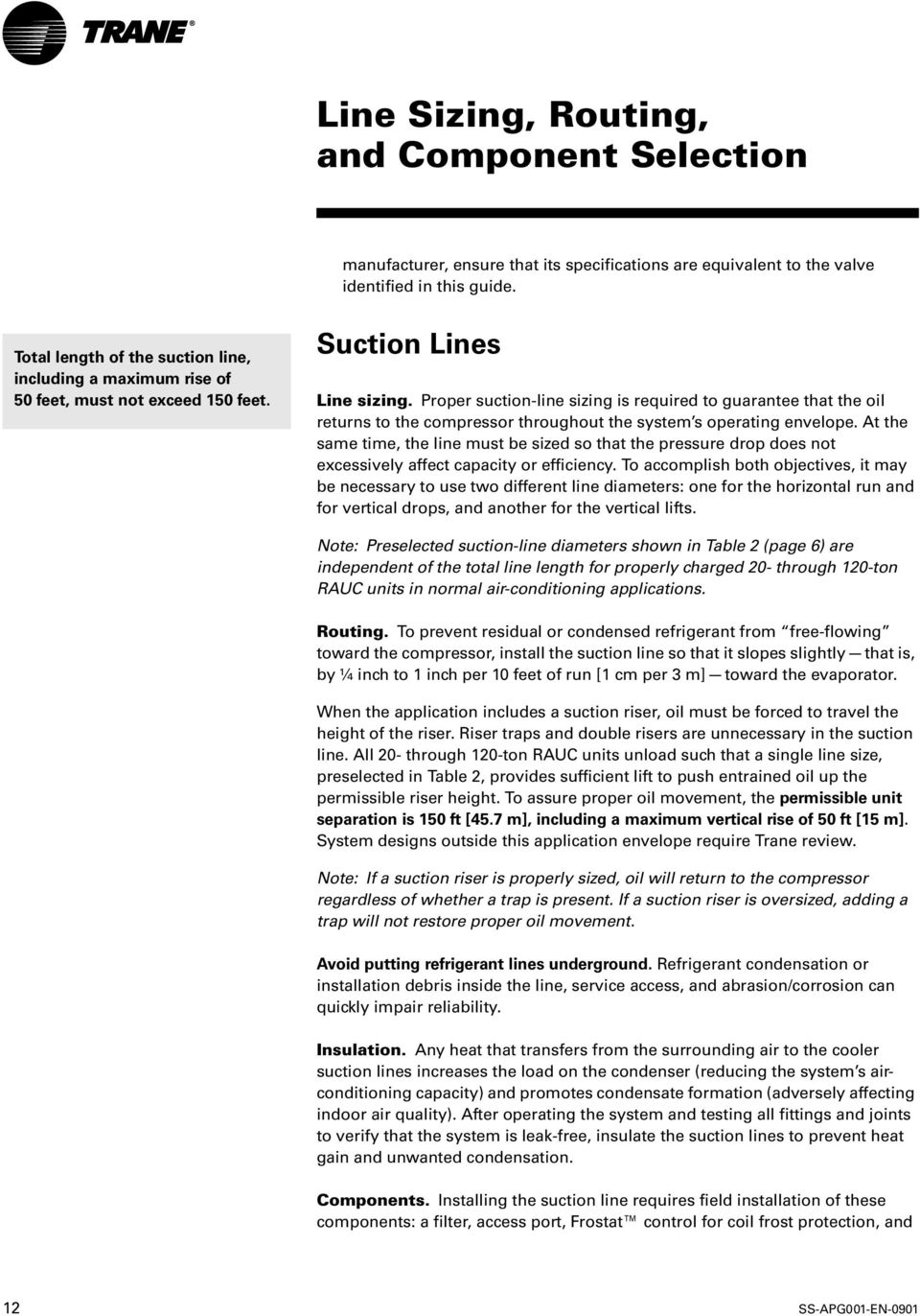 Tube Size and Component Selection - PDF