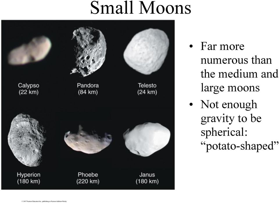 and large moons Not enough