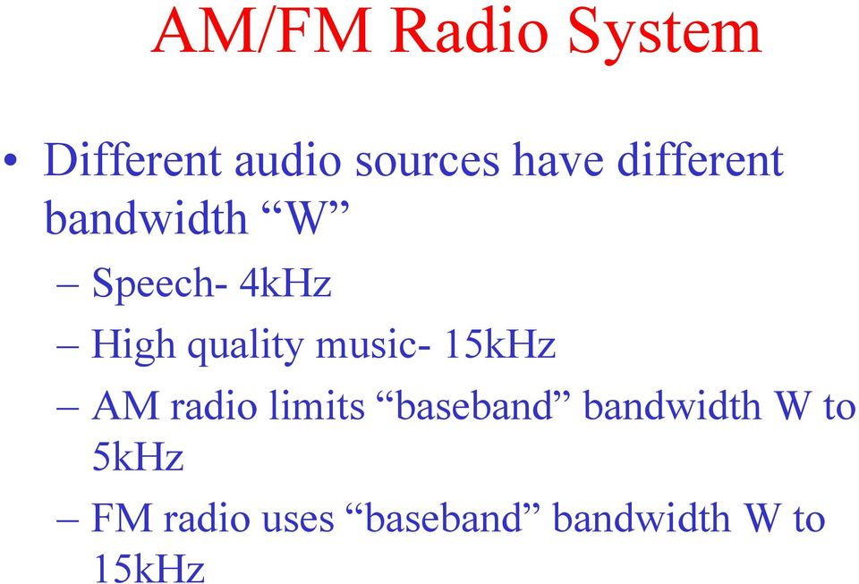 music- 15kHz AM radio limits baseband bandwidth