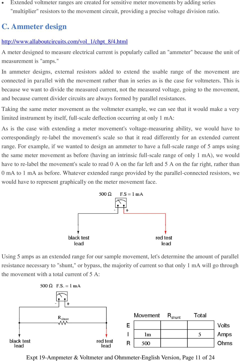 Is Connected To Opposite Ends Of The Ammeter The Circuit Is Closed
