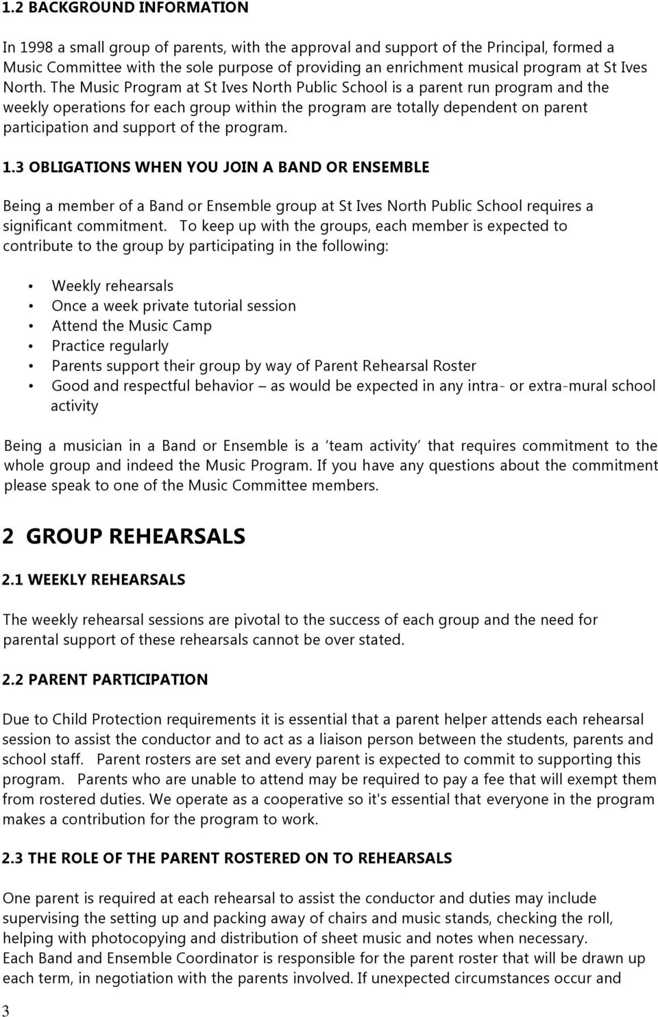 ST IVES NORTH PUBLIC SCHOOL BAND AND STRINGS - PDF