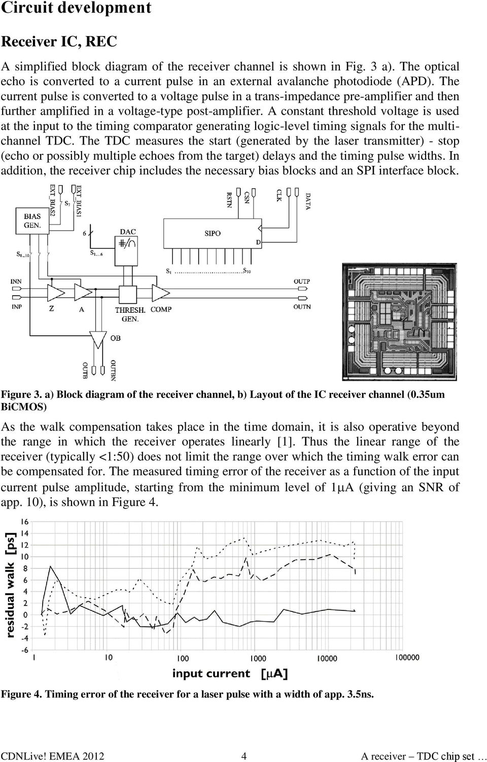 A Receiver Tdc Chip Set For Accurate Pulsed Time Of Flight Laser The Figure Below Shows Pir325 Electricalspecifications And Layout Current Pulse Is Converted To Voltage In Trans Impedance Pre
