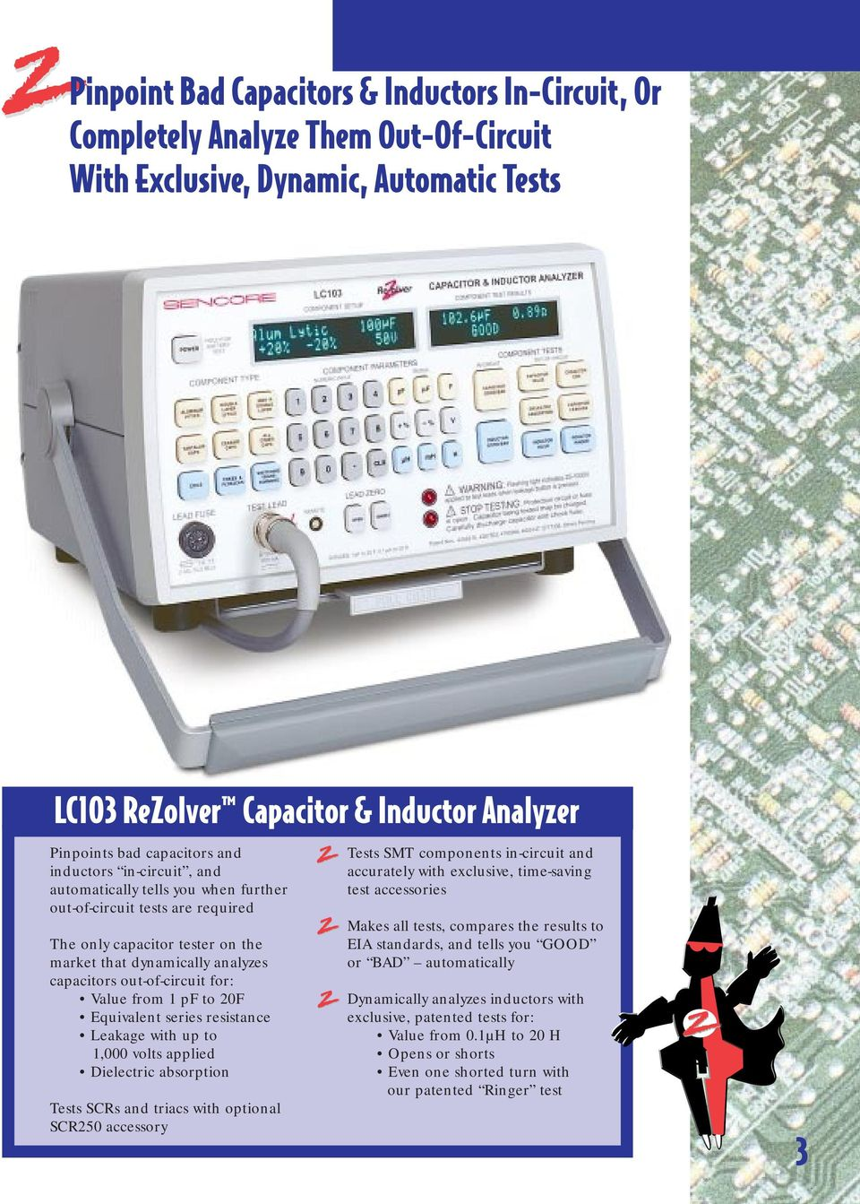 Lc103 Rezolver In Circuit Capacitor Inductor Analyzer Pdf Inductance With The Test Below Until Exact Is Out Of For Value From 1 Pf To 20f Equivalent Series Resistance