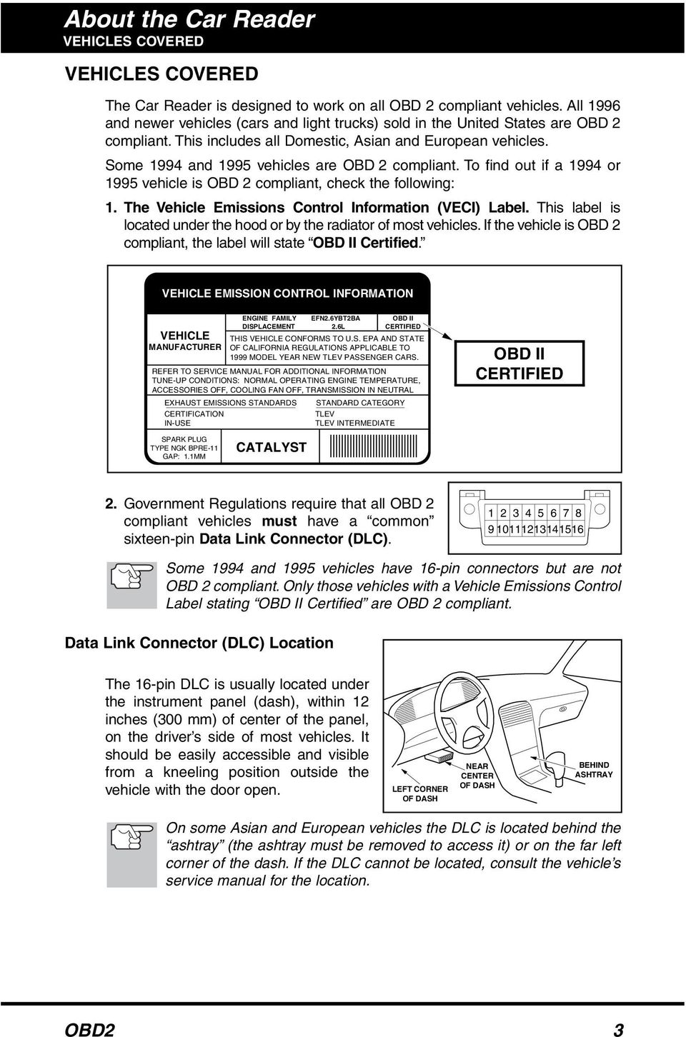 You Can Do It Safety Precautions First Pdf Location Of Ignition Coil B Primary Secondary Circuit Malfunction Some 1994 And 1995 Vehicles Are Obd 2 Compliant To Find Out If A