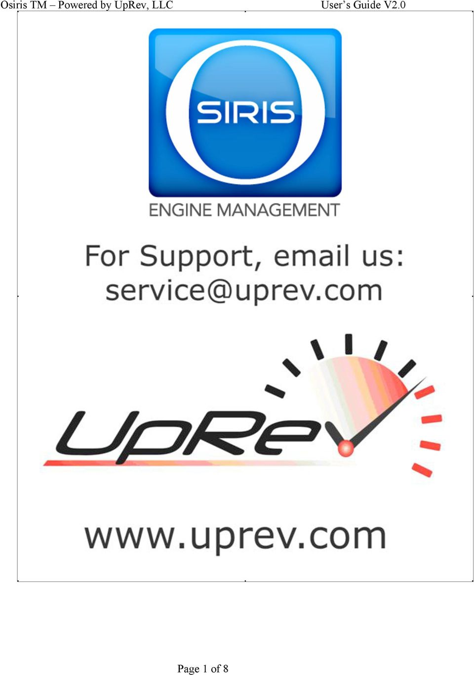 Osiris TM Powered by UpRev, LLC User s Guide V2 0 - PDF
