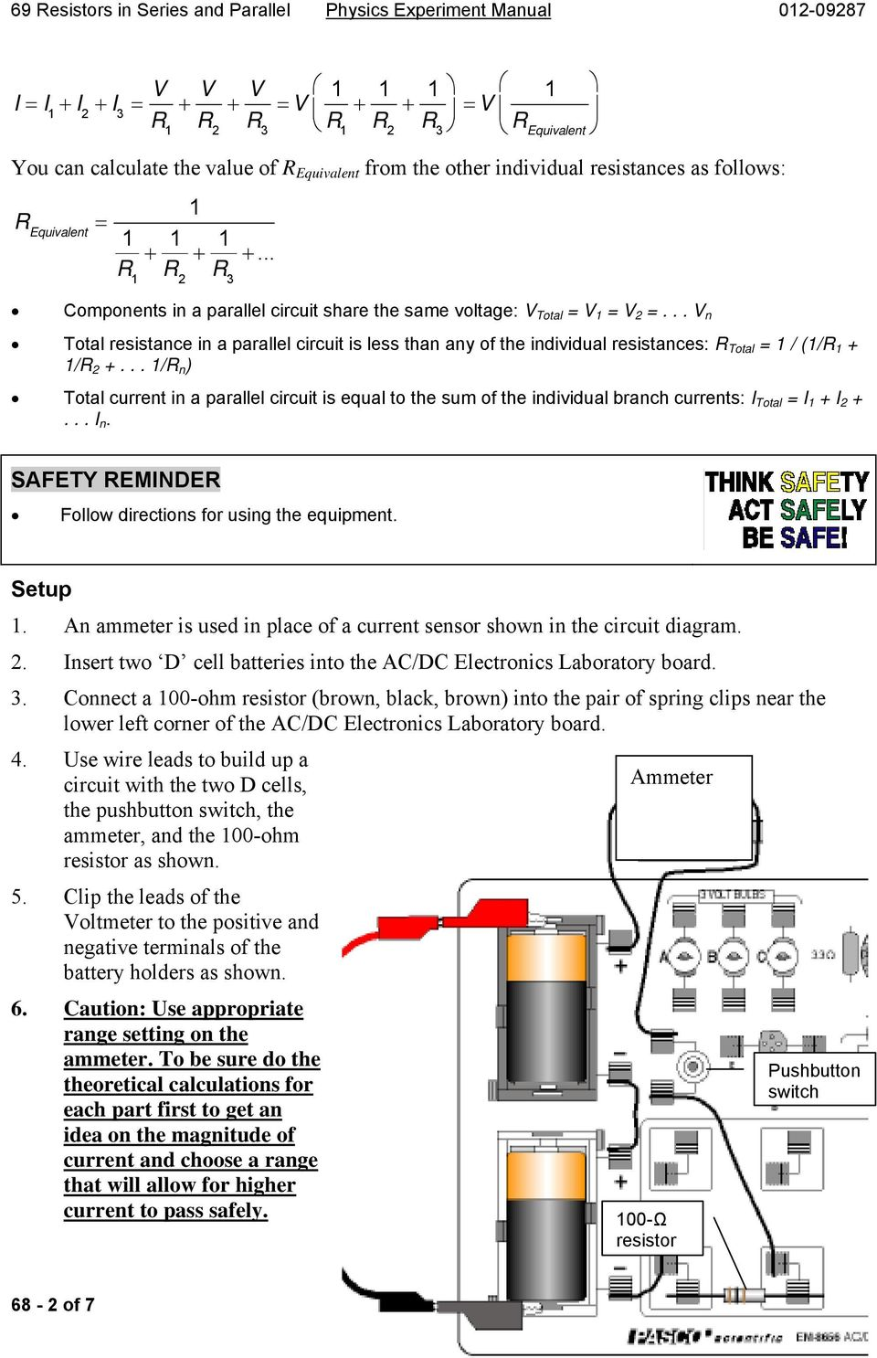 Resistors In Series And Parallel Circuits Pdf Current A Circuit N Total Resistance Is Less Than Any Of The Individual