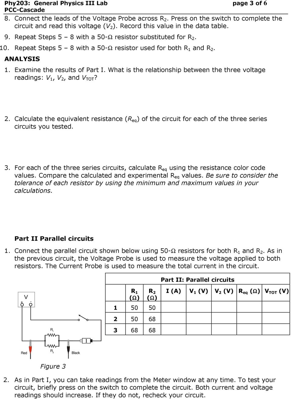 Experiment: Series and Parallel Circuits - PDF