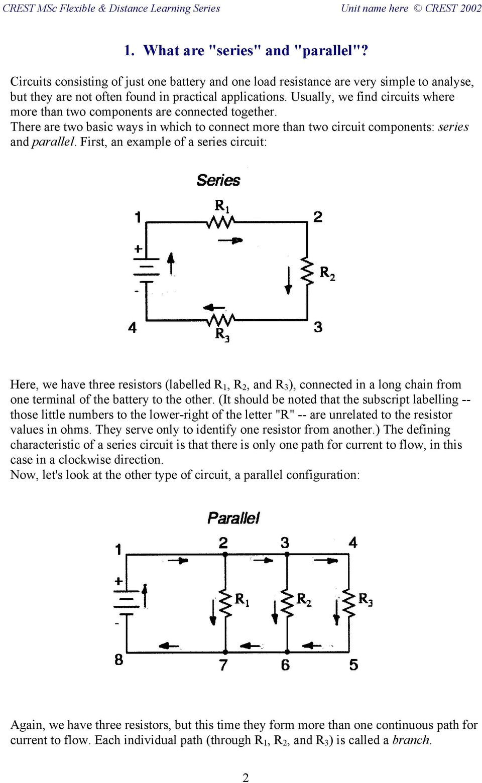 Fb Dc3 Electric Circuits Series And Parallel Pdf For In The Text They Show A Circuit That Looks Like This First An Example Of Here We Have Three Resistors