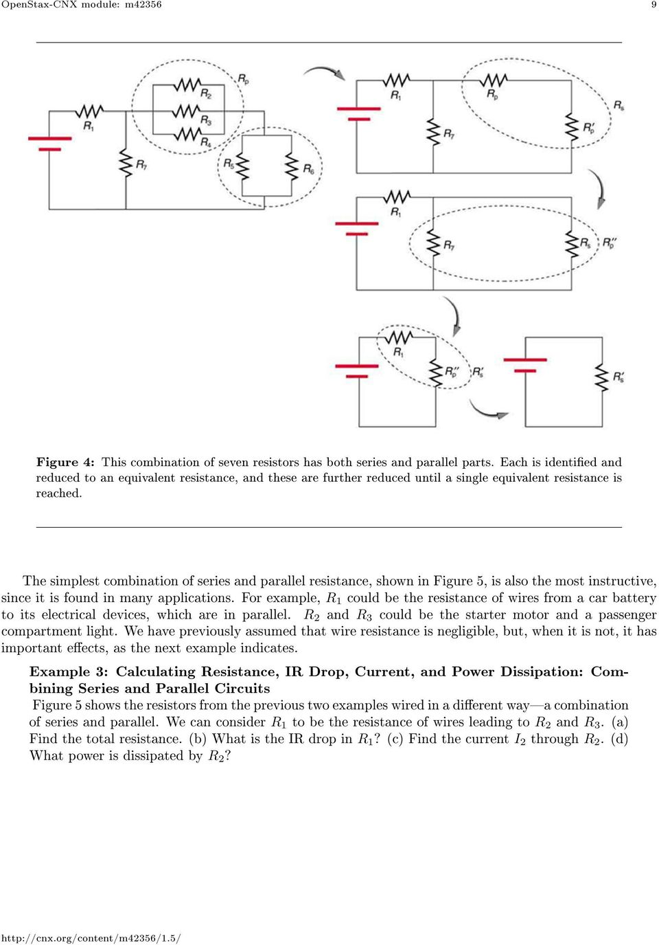Resistors In Series And Parallel Pdf Wiring Diagram The Simplest Combination Of Resistance Shown Figure 5 Is Also