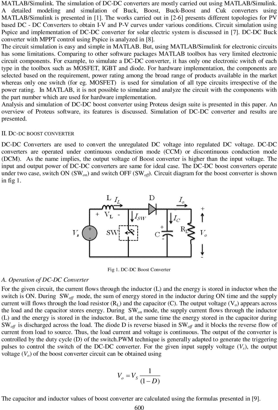 Design Simulation And Analysis Of Microcontroller Based Dc Boost Converters For Electric Vehicles Intechopen The Works Carried Out In 2 6 Presents Different Topologies Pv