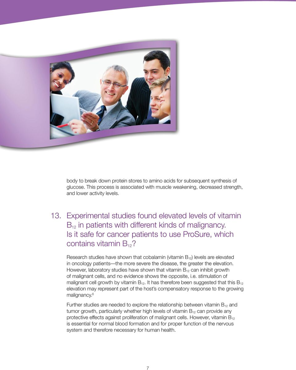 ProSure Therapeutic Nutrition for People with Cancer - PDF