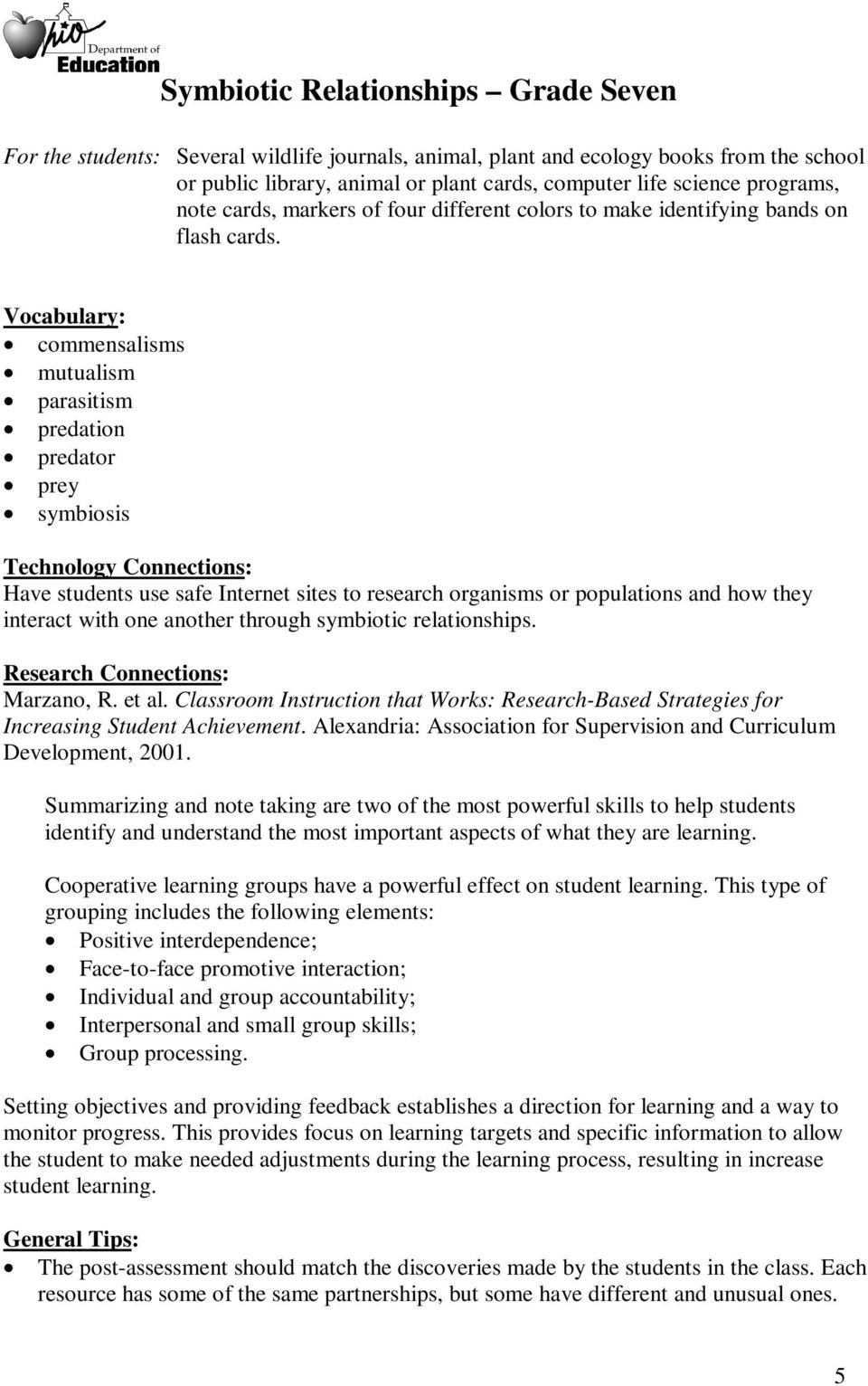 Worksheets Symbiosis Worksheet symbiotic relationships grade seven pdf vocabulary commensalisms mutualism parasitism predation predator prey symbiosis technology connections have students use safe