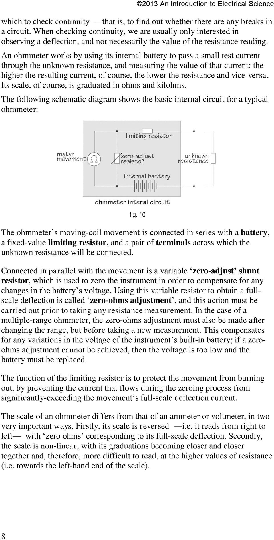 Electrical Measuring Instruments Pdf Science Electricity Simple Circuit Battery Fundamental Photographs An Ohmmeter Works By Using Its Internal To Pass A Small Test Current Through The