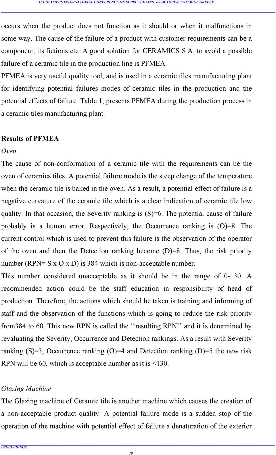 Application Of Failure Modes And Effects Analysis Fmea Of A