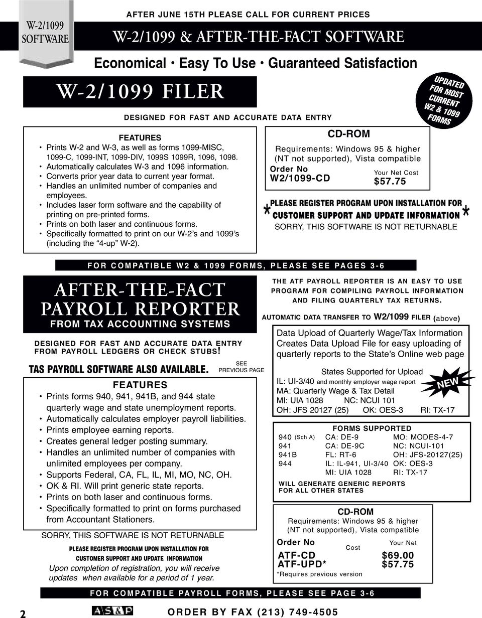 SPECIALIZING IN TAX SUPPLIES W-2 & 1099 FORMS - PDF