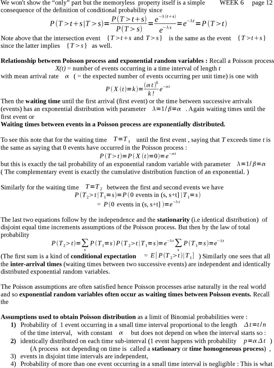 Probability density function : An arbitrary continuous