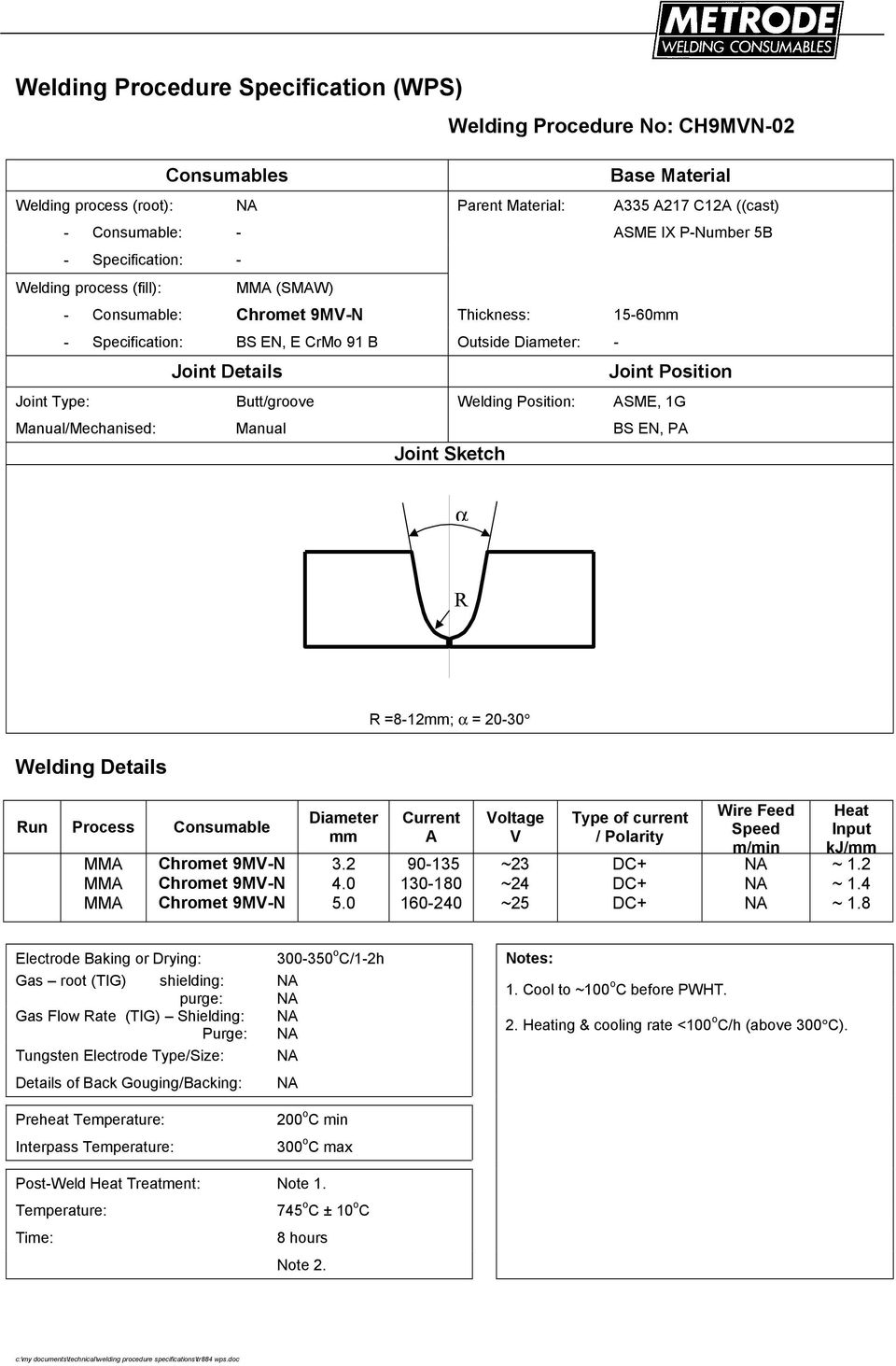 Welding Procedure Specification Wps Pdf Pwht Wiring Diagram 0 50 90 35 30 80 60 240 Oltae 23 25
