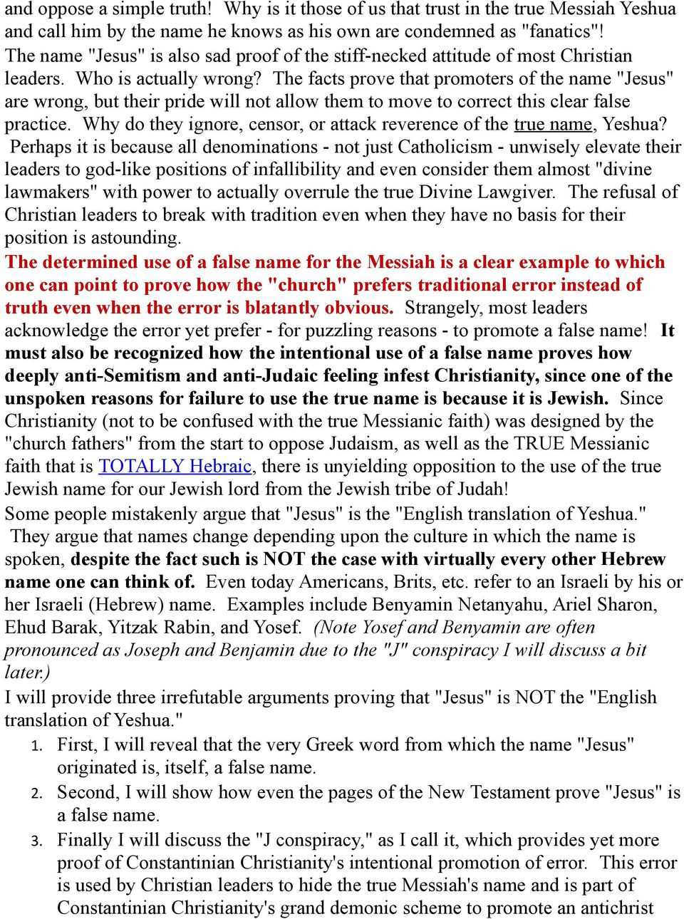 Yeshua or Jesus? The Mis-Transliteration of a Greek Mis