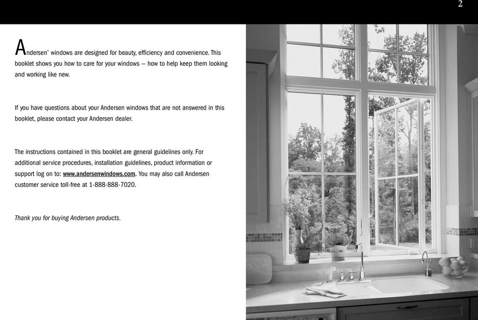 Caring For Your Andersen Casement Awning Windows Pdf