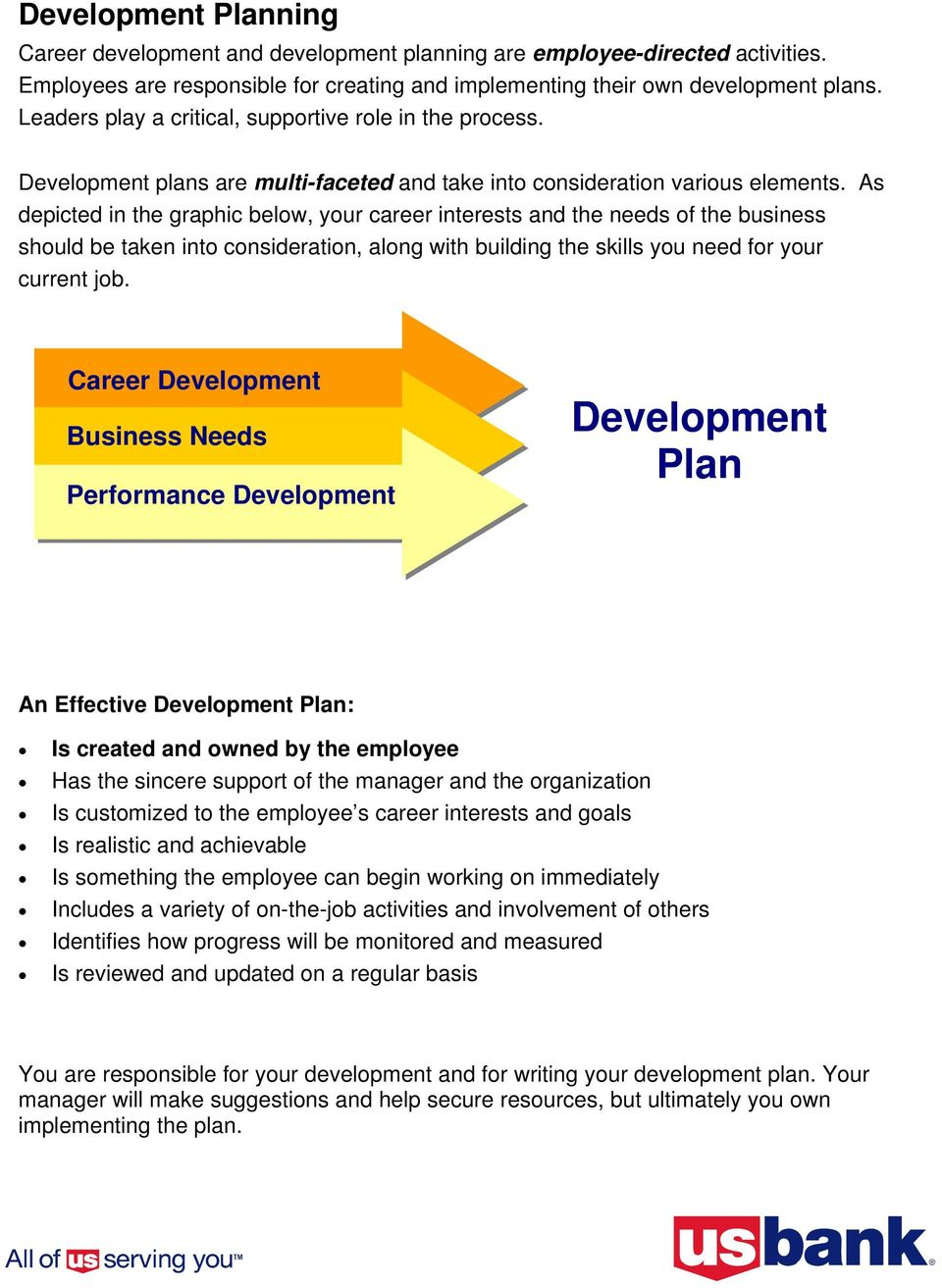 Writing a Development Plan A GUIDE FOR EMPLOYEES - PDF