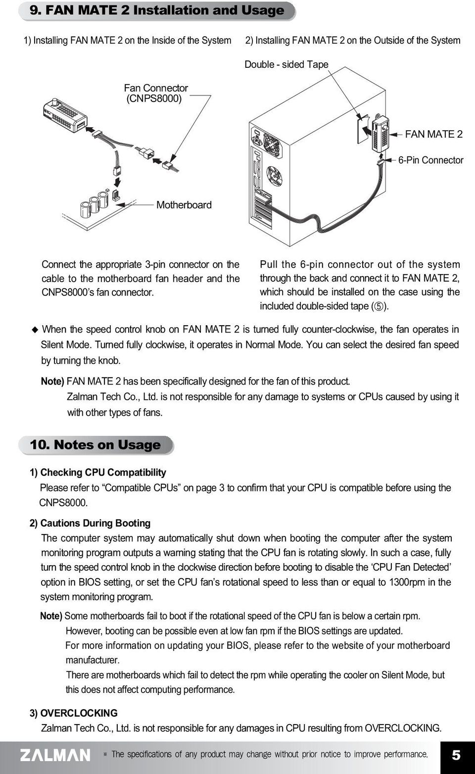 English Version Cnps Pdf Wiring 3 Pin Cpu Fan Zalman Free Download Diagrams Pictures Pull The 6 Connector Out Of System Through Back And Connect It