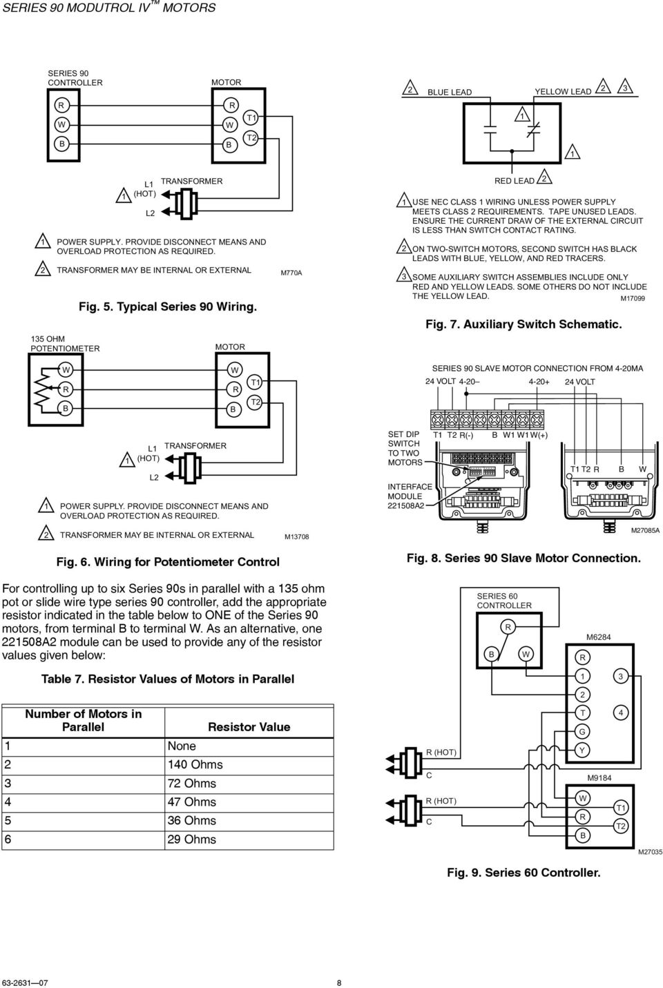 Series 90 Modutrol Iv Motors Pdf 0413 Rocker Switch Wiring Diagram Ensure The Current Draw Of External Circuit Is Less Than Contact Rating On Two