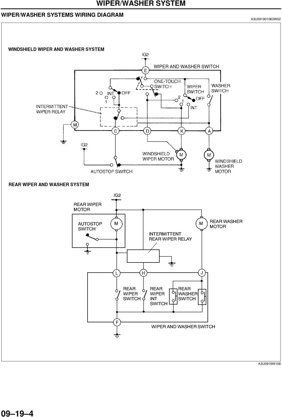 09 19 Wiper Washer System Pdf Smart Wiring Diagram