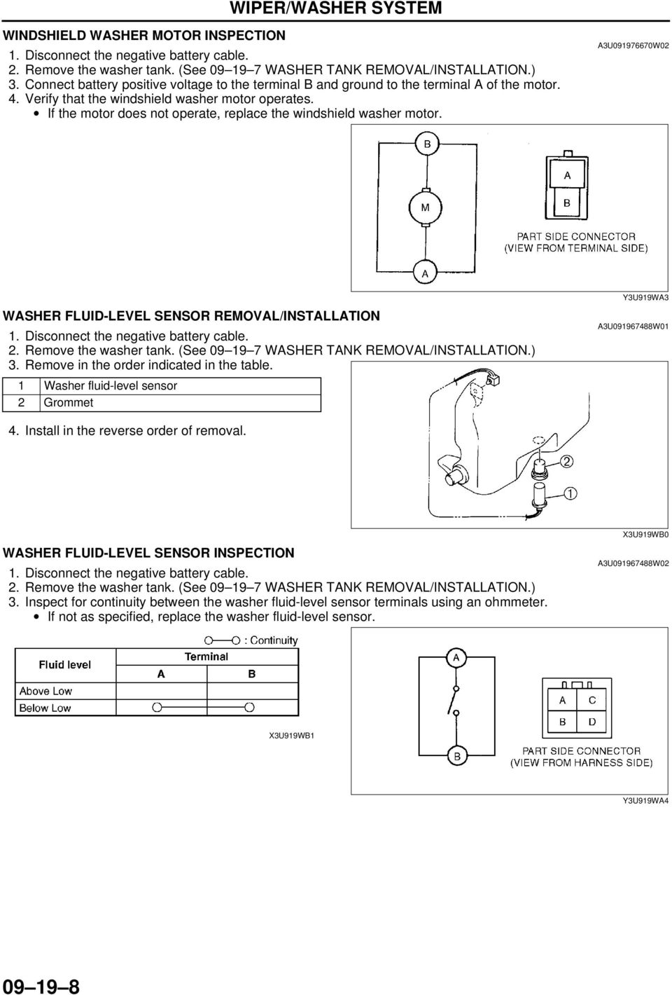 Nissan Sentra Service Manual: Front wiper does not operate