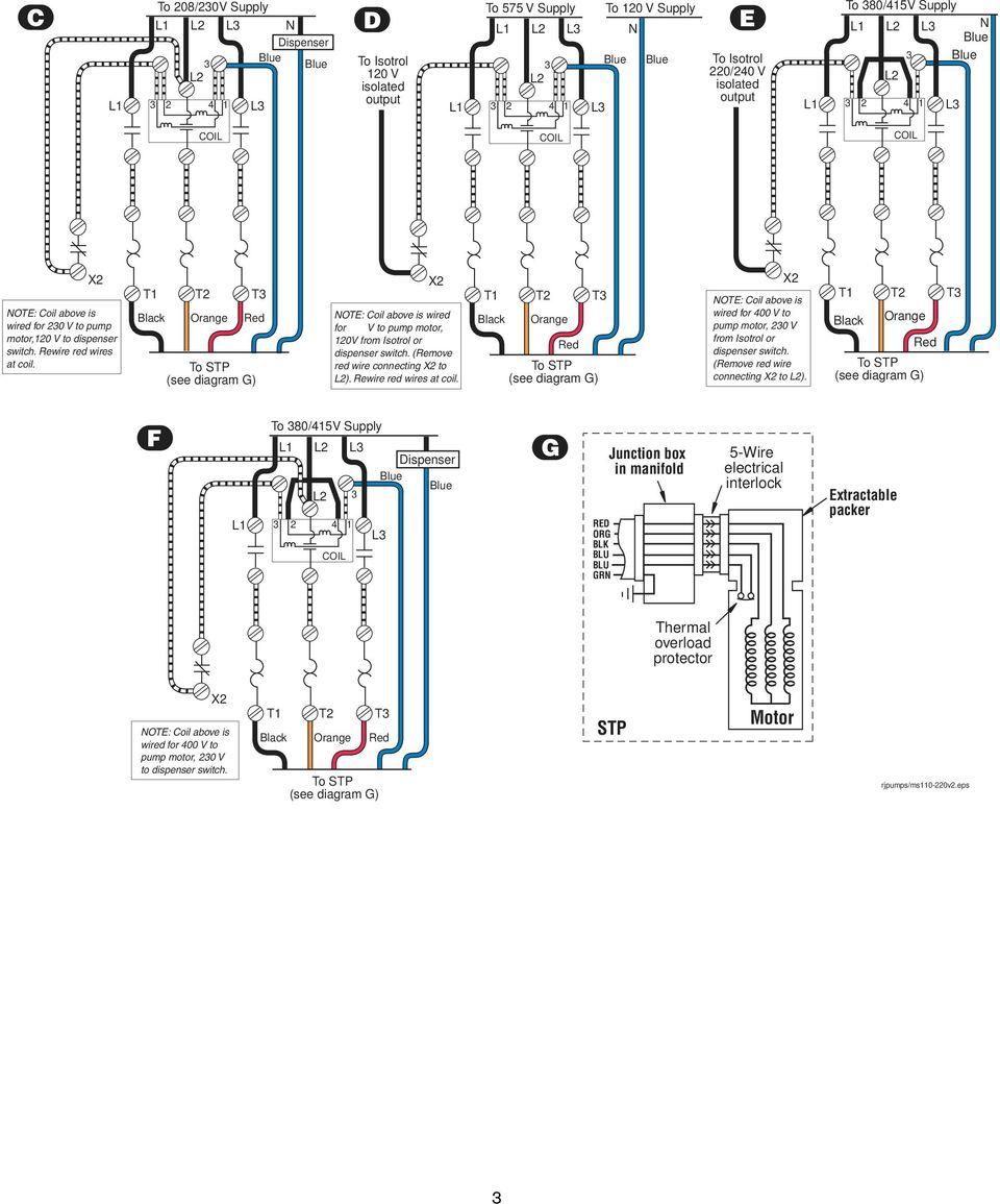 Magnetic Starter 30a 120 240v Coils Pdf Electrical Interlock Wiring Diagram Wired For 400 V To Pump Motor 20 From Isotrol Or Dispenser Switch
