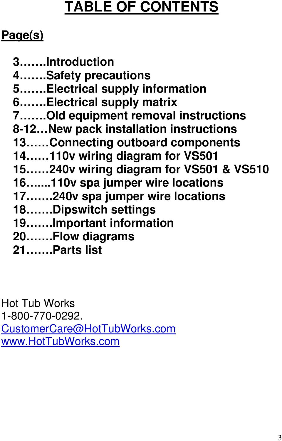 Vs Control Pack Installation Instructions Pdf 4 Wire 240v Wiring Diagram For Vs501 15 Vs510 16110v Spa