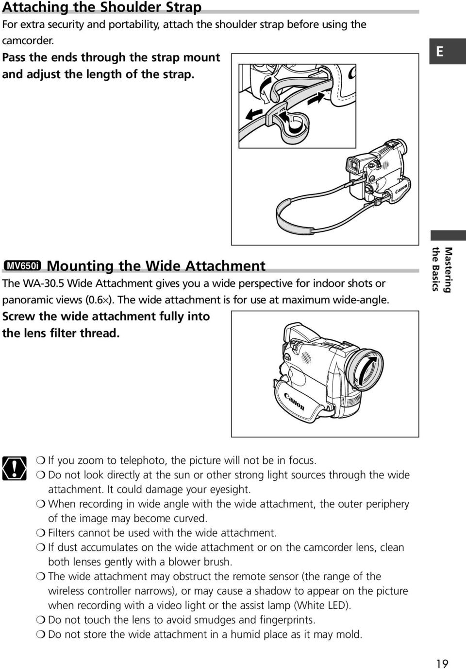 Screw the wide attachment fully into the lens filter thread. Mastering the  Basics If you