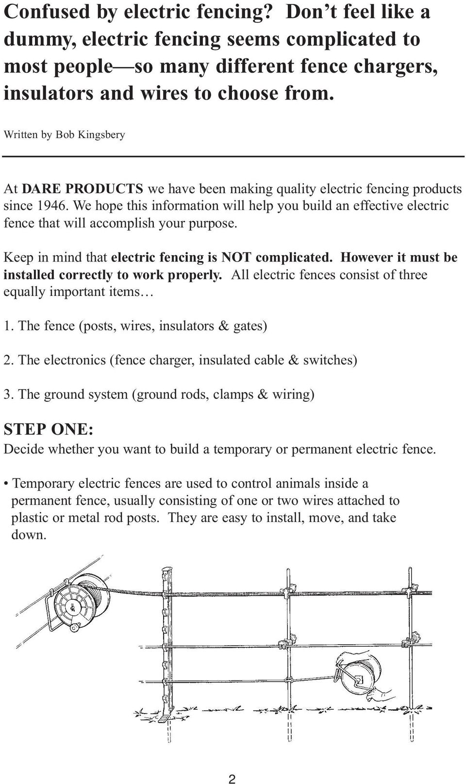 Electric Fencing Made Easy Pdf Fence Zapper Chargers We Hope This Information Will Help You Build An Effective That Accomplish Your