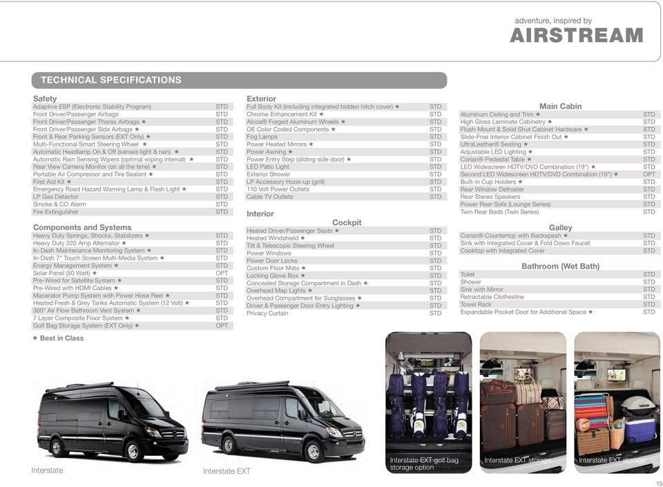 Interstate and Interstate EXT  Roll with the best    Airstream and