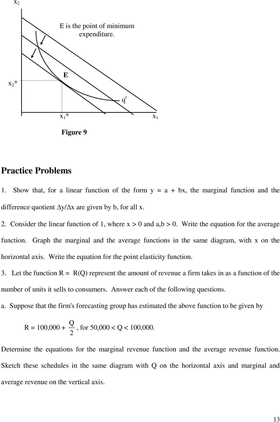 Lecture 2  Marginal Functions, Average Functions, Elasticity