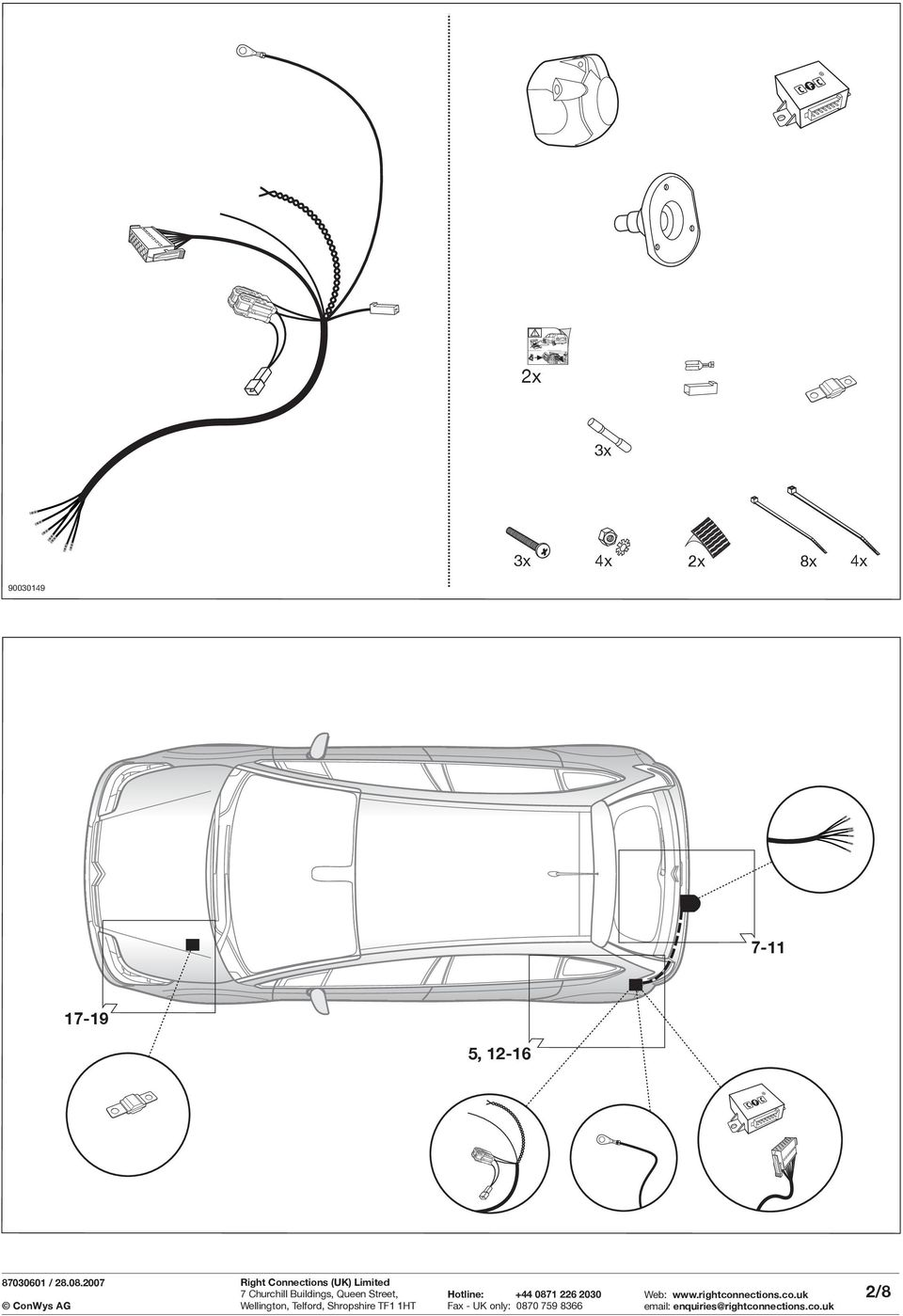 Fitting Instructions Part No Rc Citroen Important Grand C4 Picasso Wiring Diagrams 90030149 7 11