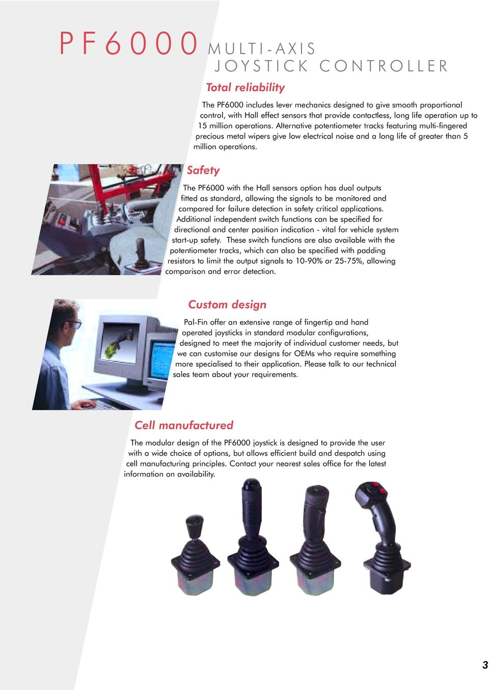PF6000 MULTI AXIS JOYSTICK CONTROLLER  Innovation In Motion