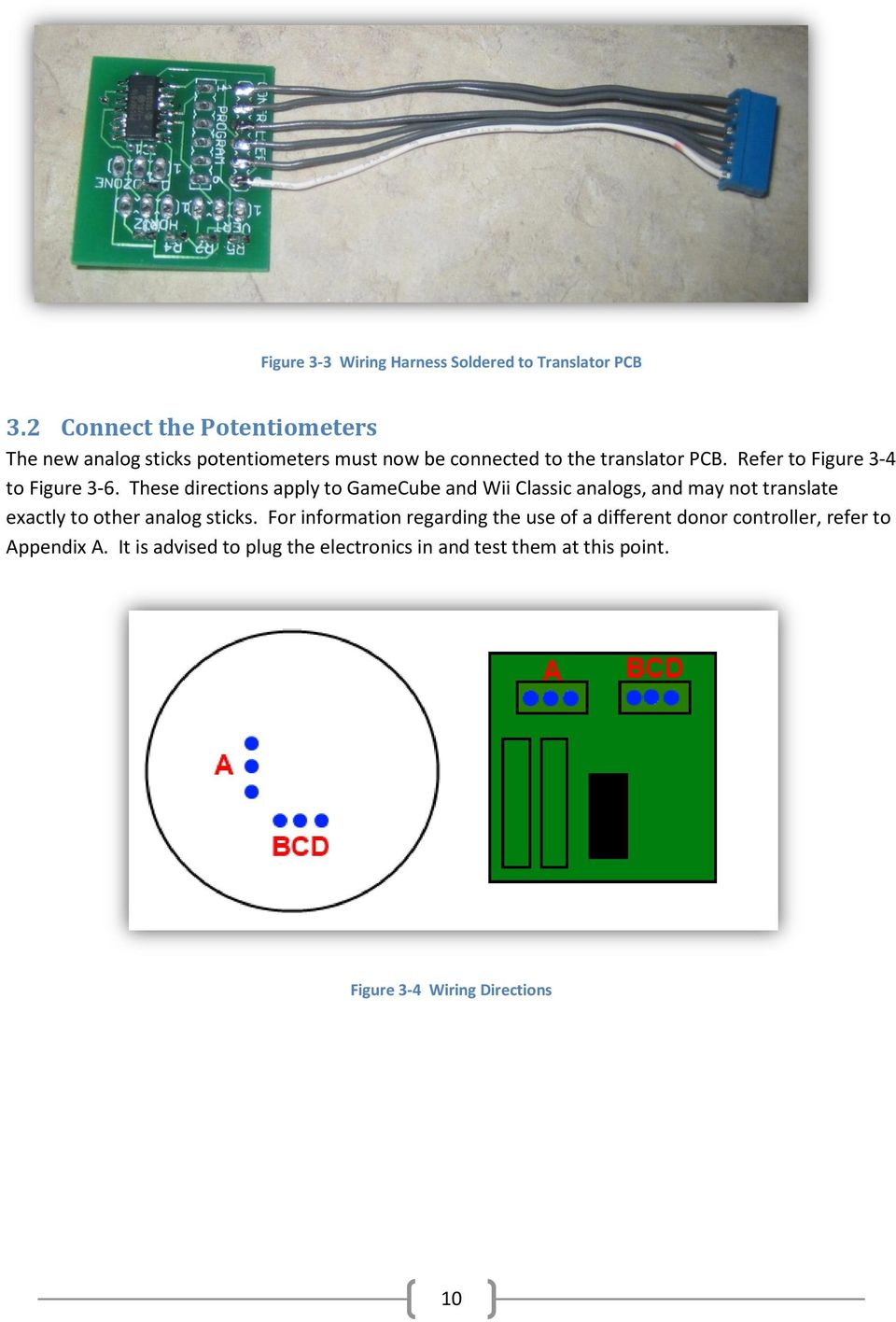 Gamecube Controller Wiring Diagram Right Stick N64 Potentiometer Analog Retrofit Pdf Refer To Figure 3 4 6