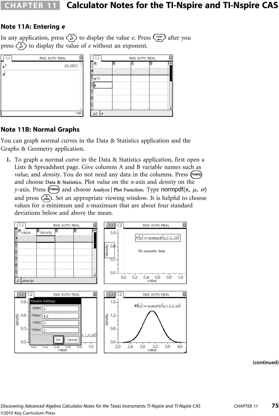 Calculator Notes for the TI-Nspire and TI-Nspire CAS - PDF