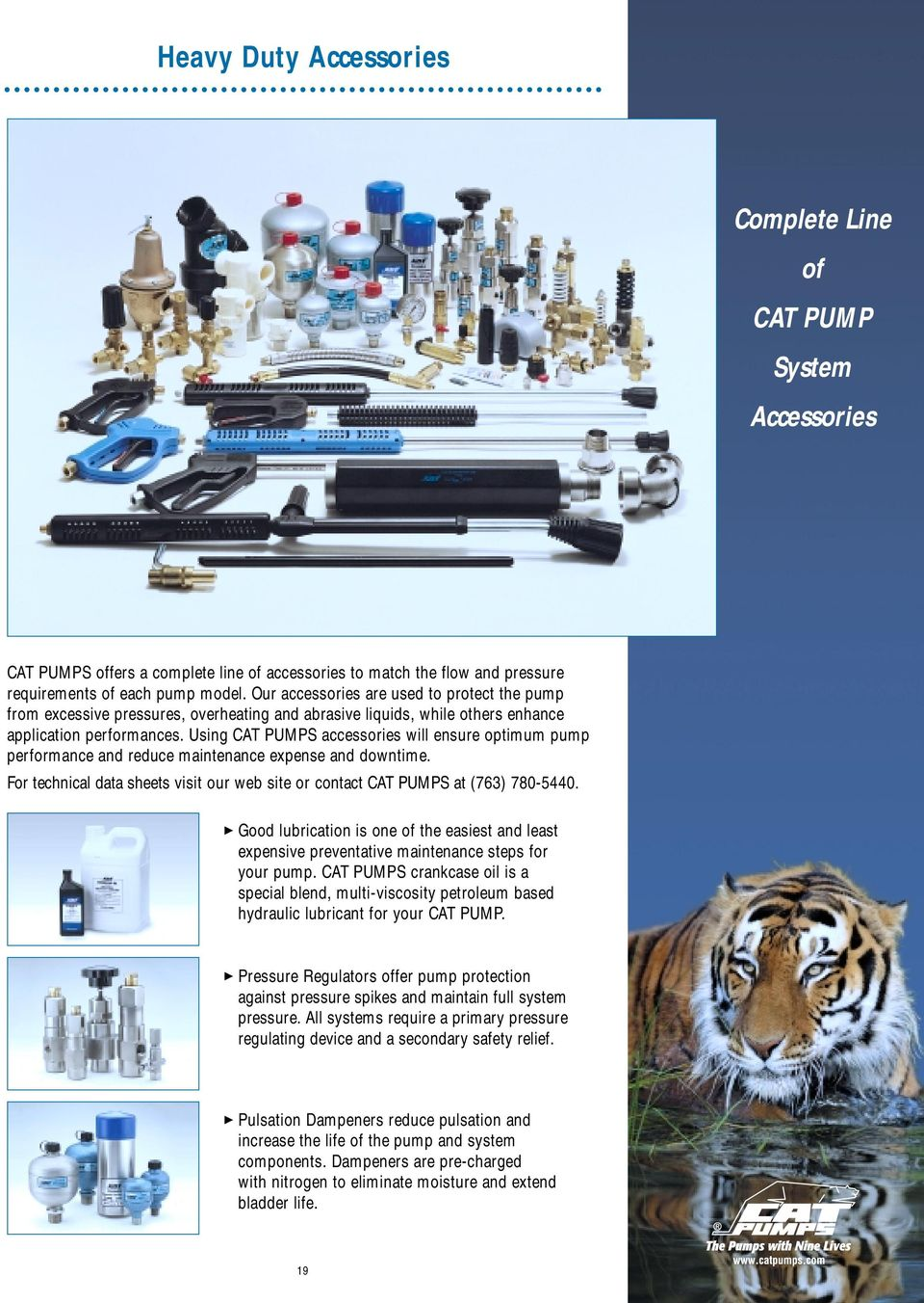 CAT PUMPS. The Pumps with Nine Lives. Quality defines CAT PUMPS - PDF