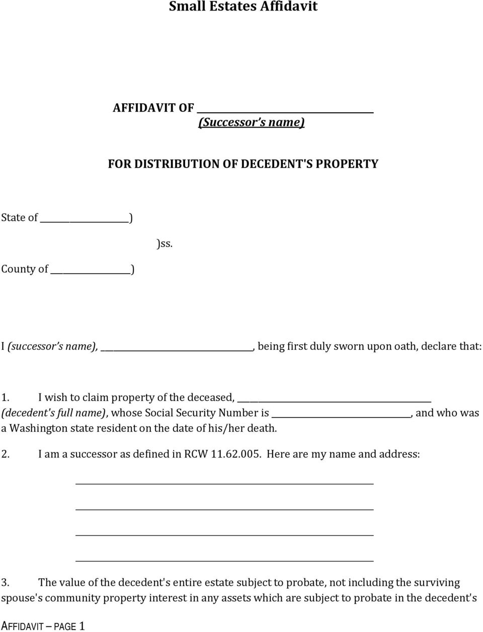 How to claim the personal property of someone who has died do it i wish to claim property of the deceased decedents full name whose solutioingenieria Images