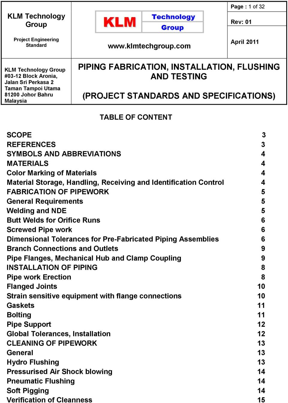 TABLE OF CONTENT - PDF