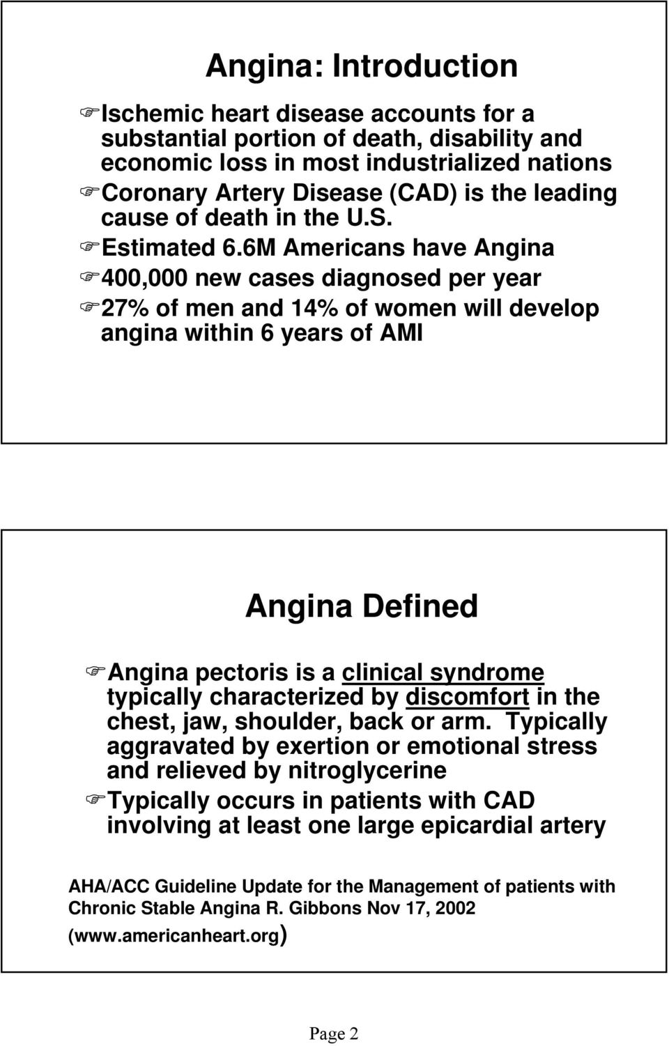 ischemic heart disease: angina pectoris - pdf