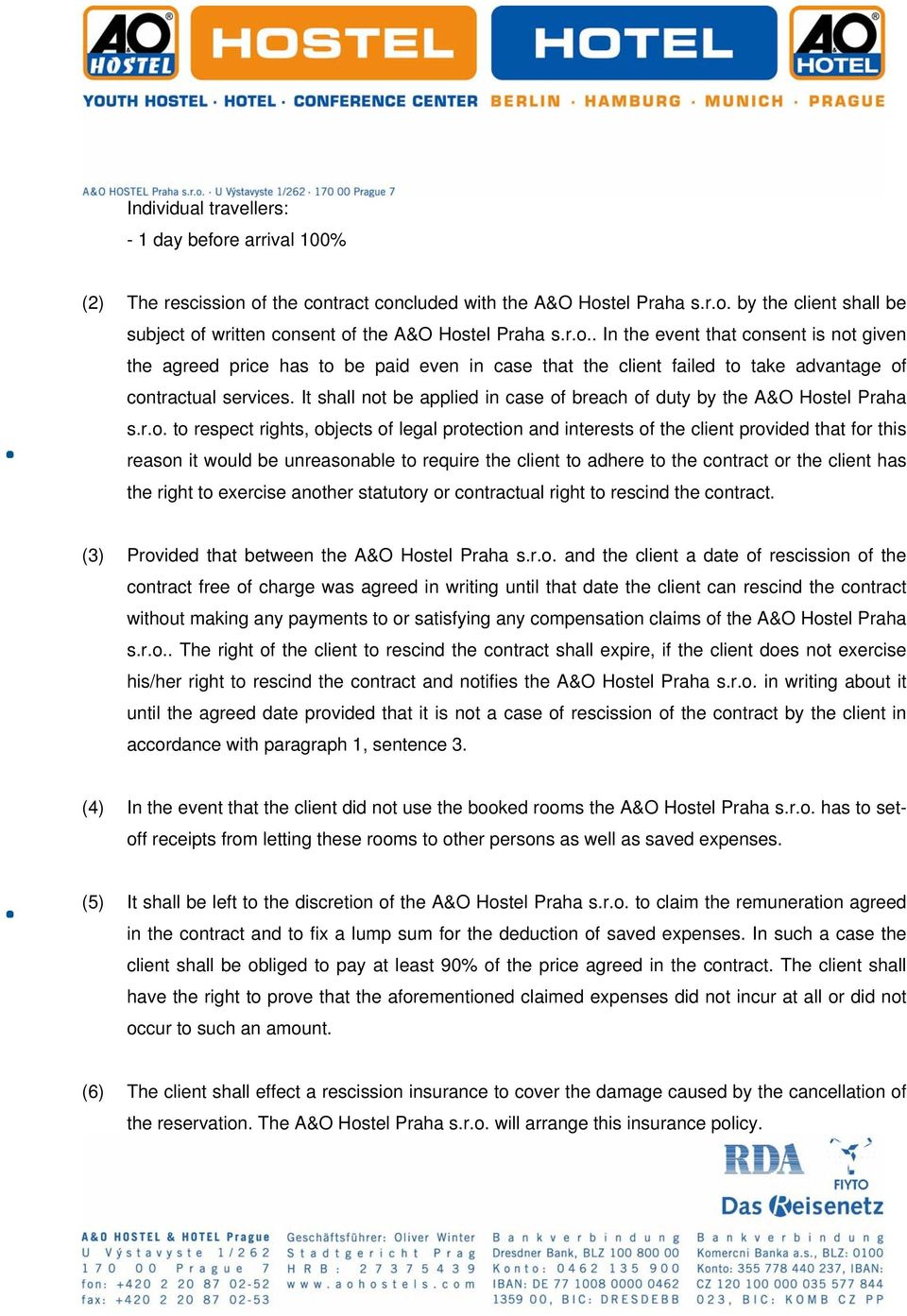 de974275a956 General terms and conditions of the contract for accommodation in ...