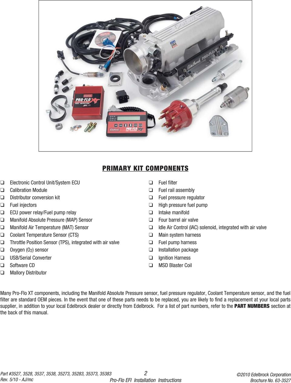 Installation Instructions Pdf Mallory Air Valve Coolant Temperature Sensor Cts Main System Harness Throttle Position Tps