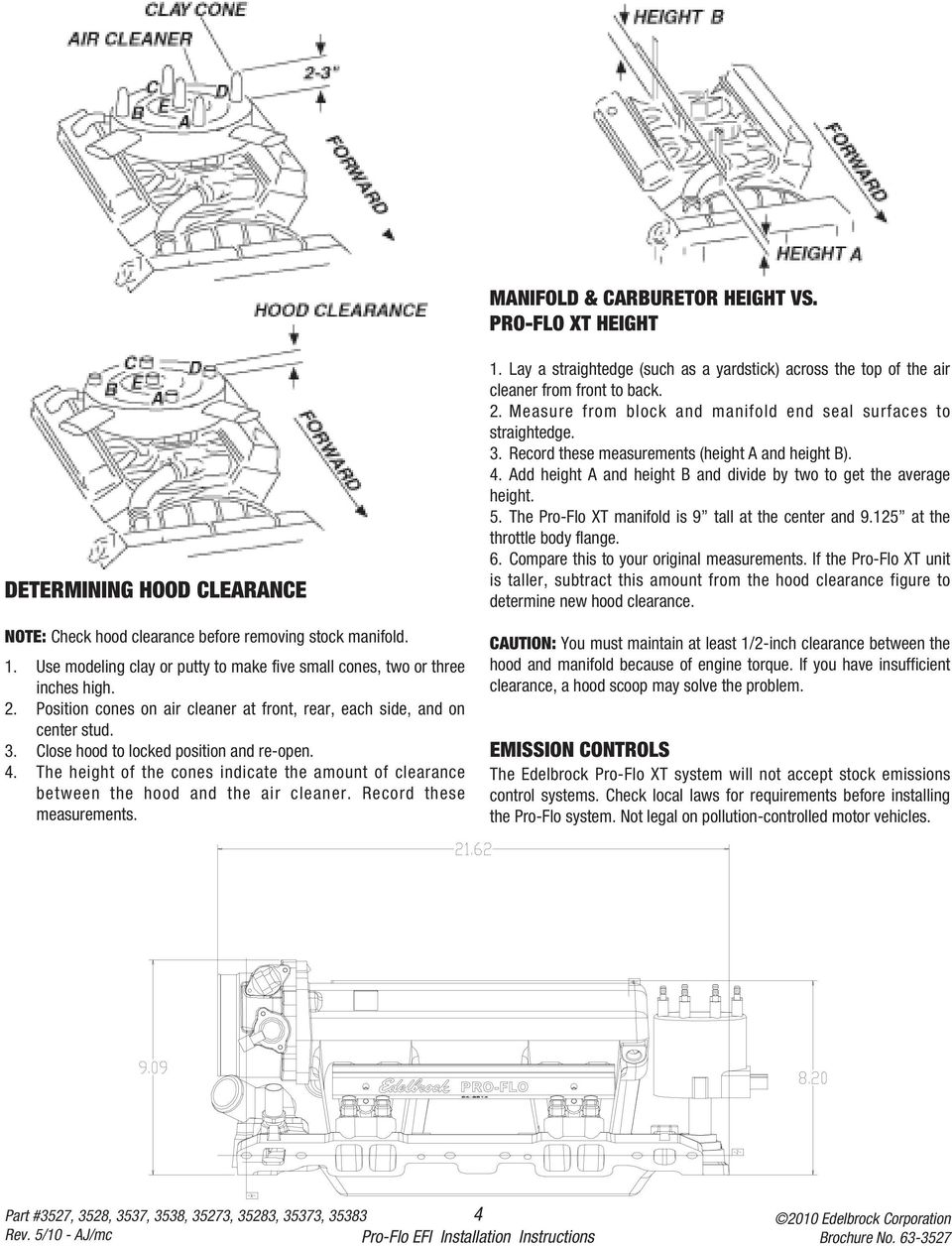 installation instructions pdf close hood to locked position and re open 4 the height of the